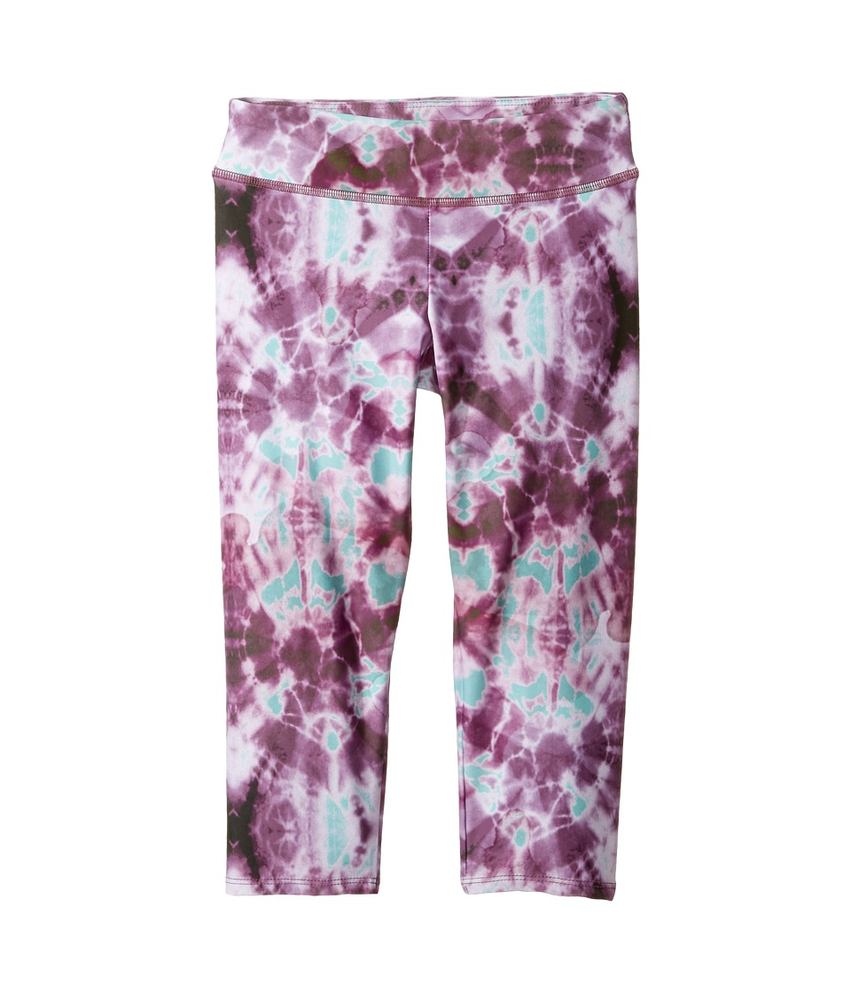 Onzie Kids - Capri Pants (Little Kids/Big Kids) (Purple Tie-Dye) Girl's Capri