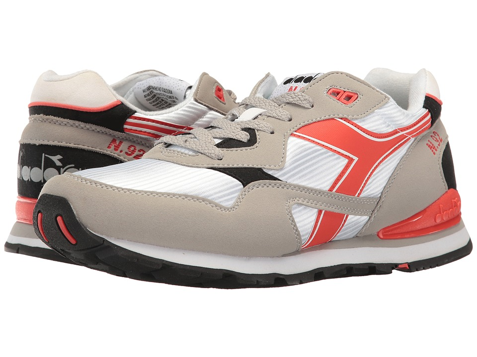 Diadora - N-92 (Paloma Gray/Fiesta Red) Men's Shoes