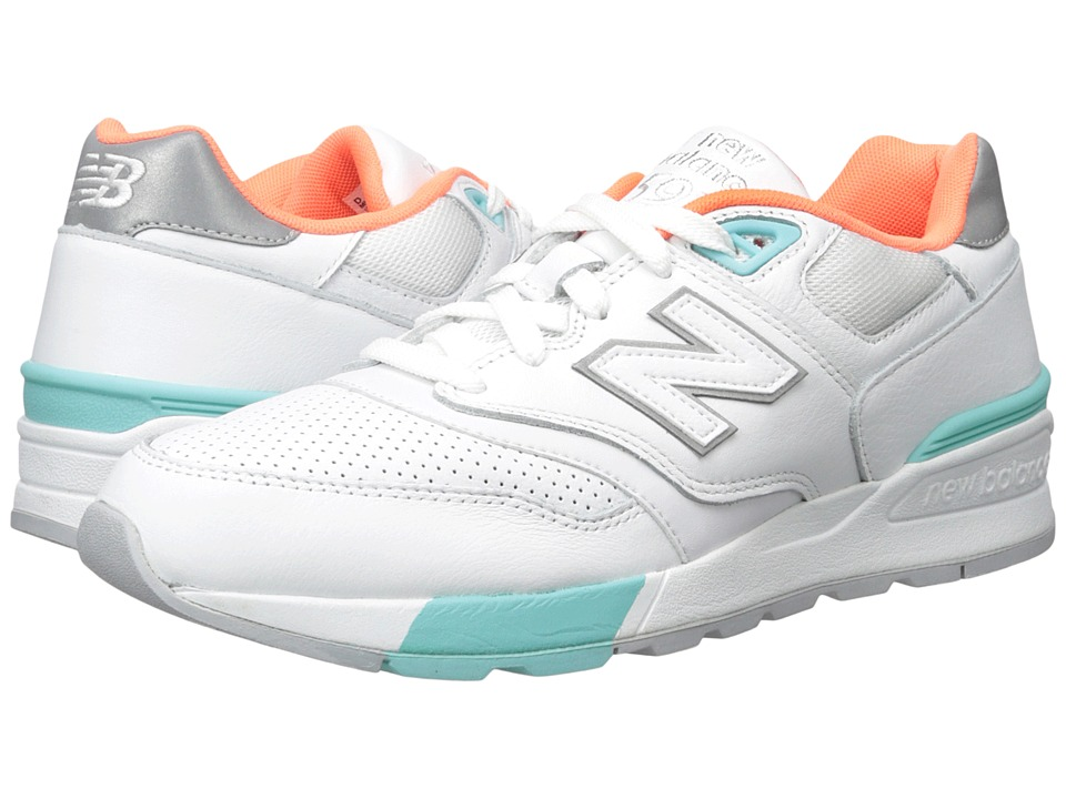 New Balance Classics - ML597 (White/Sea Spray/Sunrise) Men's Classic Shoes