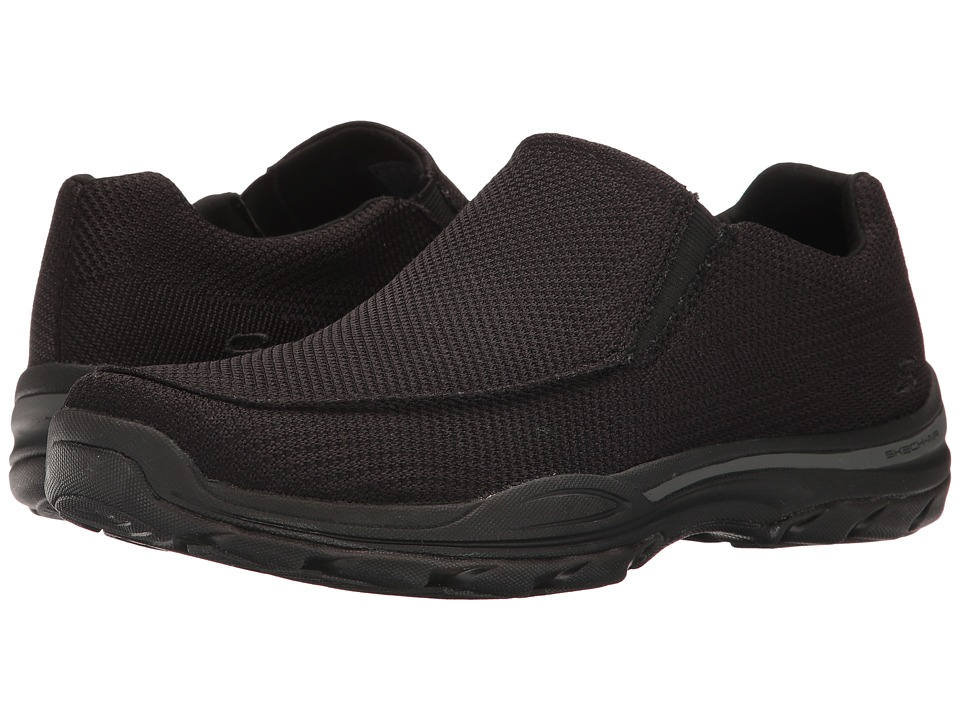 SKECHERS - Classic Fit Element - Vengo (Black Mesh) Men's Shoes