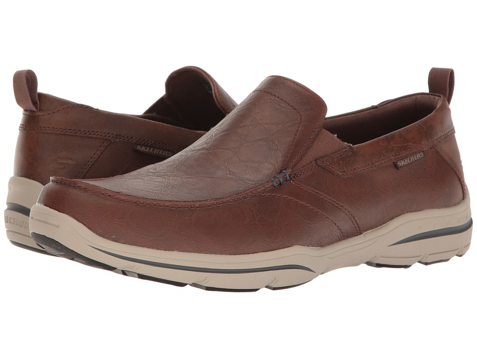 SKECHERS - Relaxed Fit Harper - Forde (Chocolate Leather) Men's Shoes