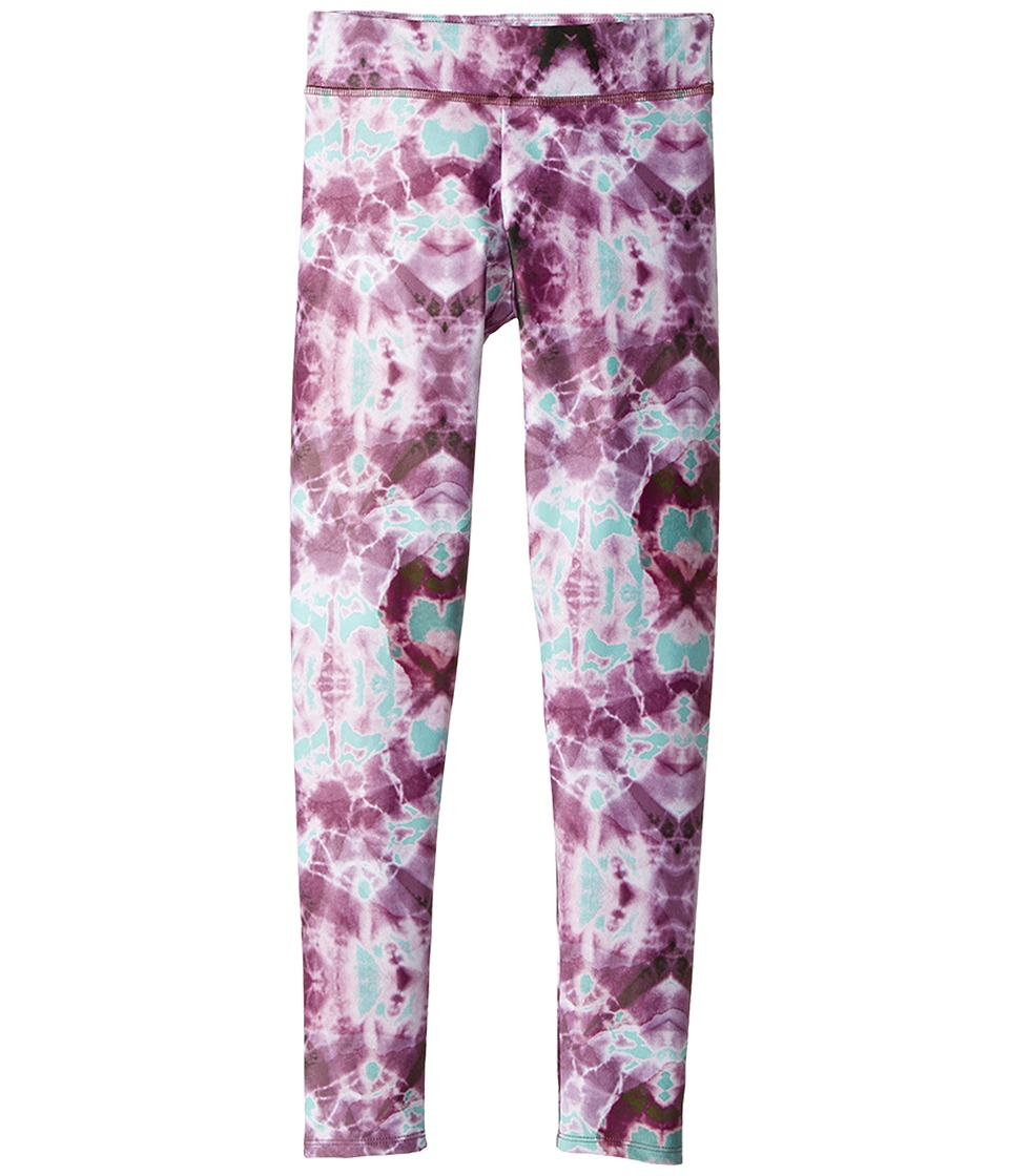 Onzie Kids - Long Leggings (Little Kids/Big Kids) (Purple Tie-Dye) Girl's Casual Pants