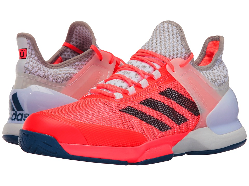adidas - Adizero Ubersonic 2 (Flash Red/Tech Steel/White) Men's Shoes