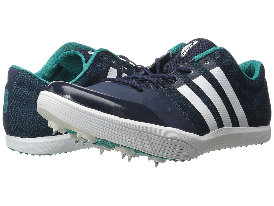 adidas - Adizero LJ (Navy/White/QT Green) Athletic Shoes