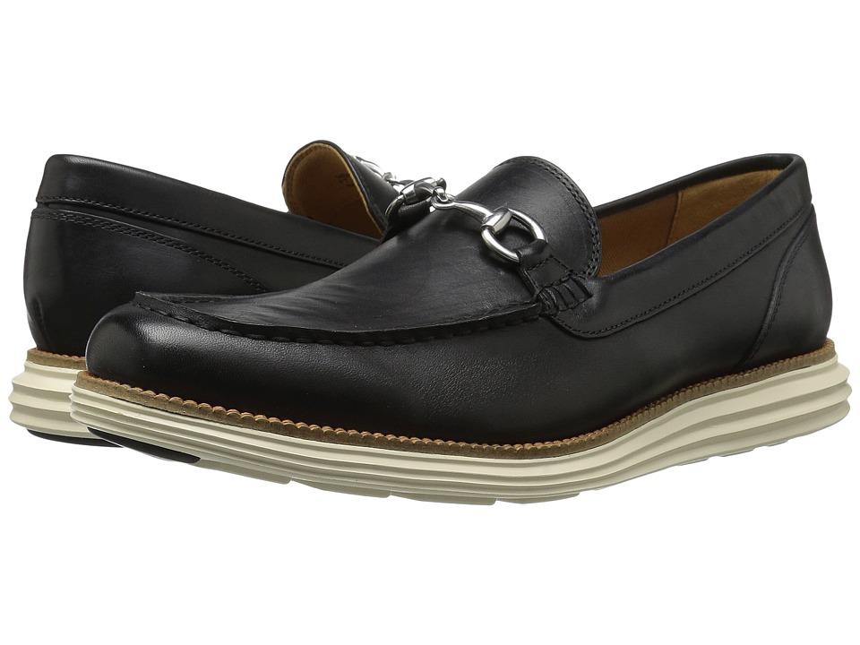 Cole Haan - Original Grand Venetian Bit II (Black/Ivory) Men's Shoes