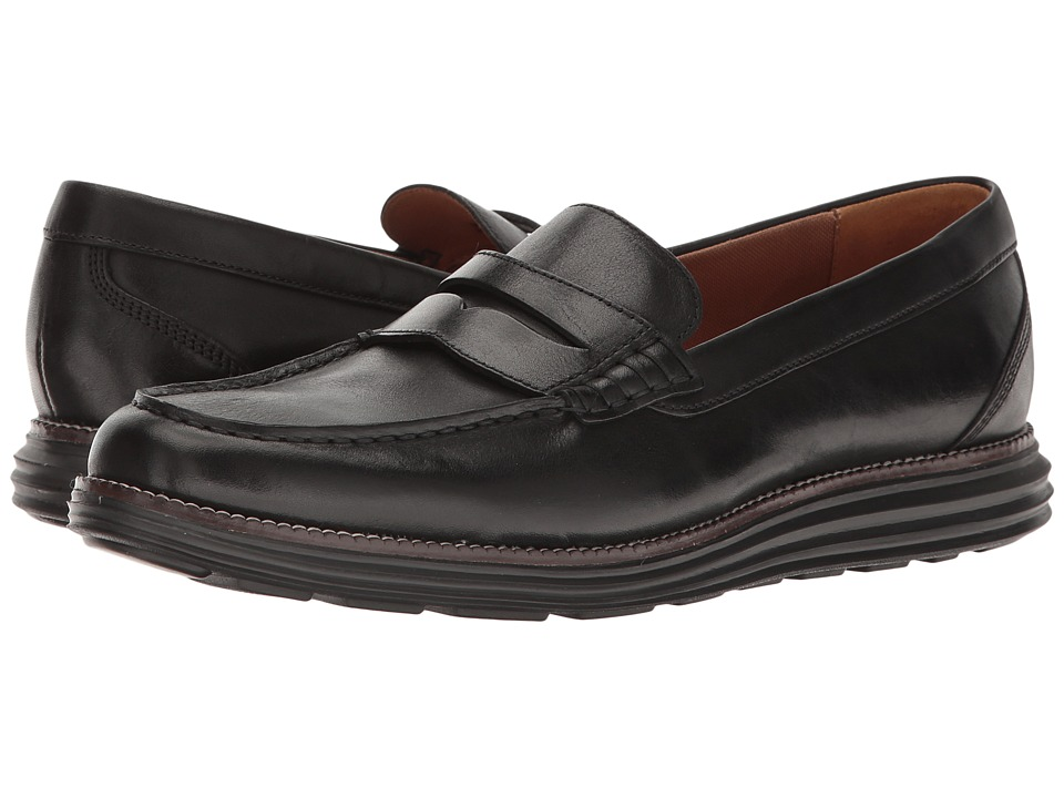 Cole Haan Original Grand Penny II (Black/Black) Men