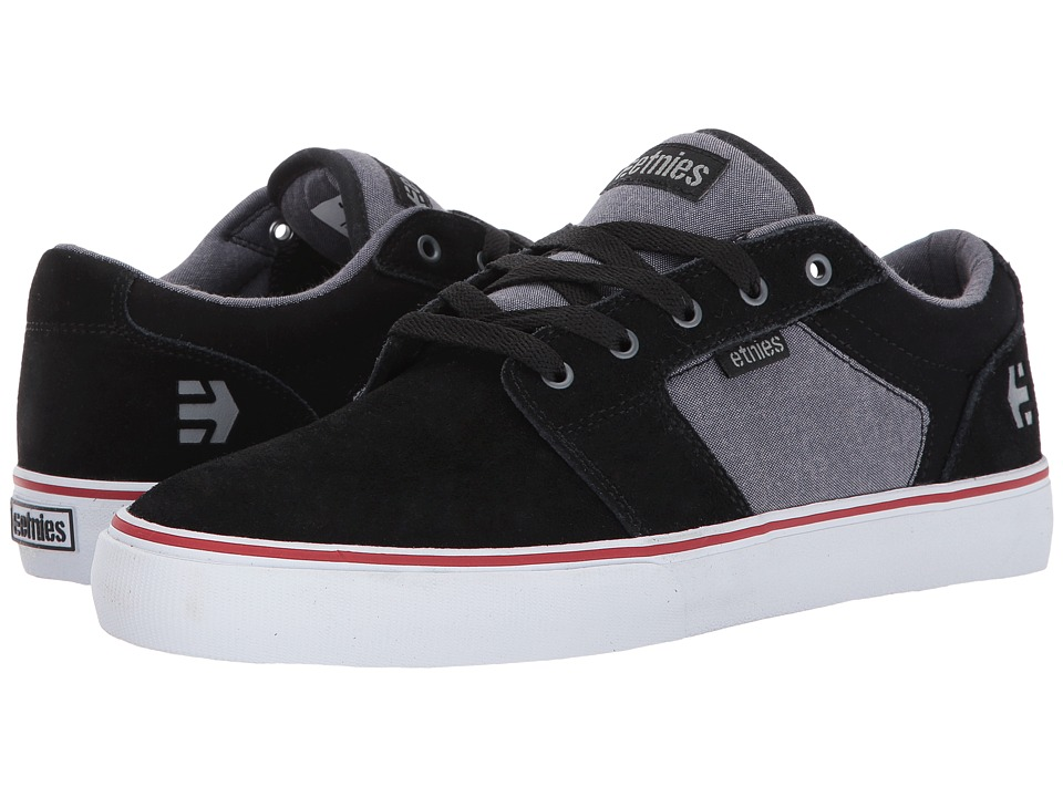 etnies - Barge LS (Black/Charcoal/Silver) Men's Skate Shoes