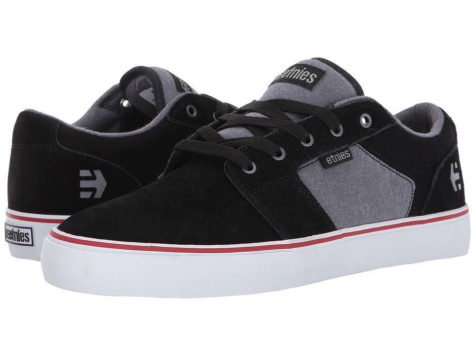 etnies - Barge LS (Black/Charcoal/Silver) Men's Skate Shoes