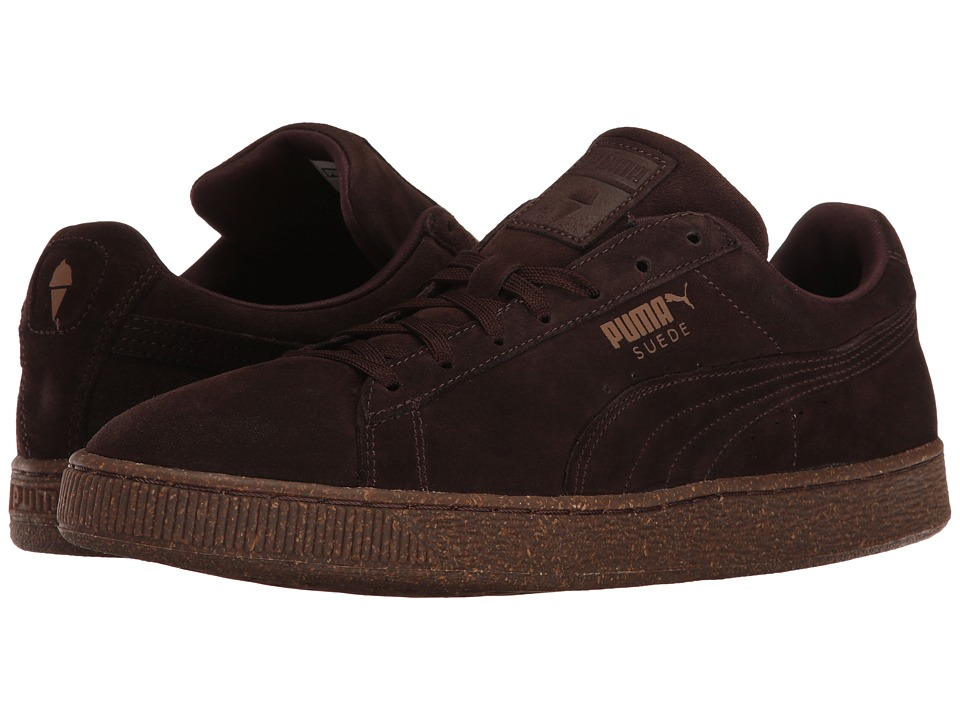 PUMA - Suede IC (Chocolate Brown/Chipmunk) Men's Shoes