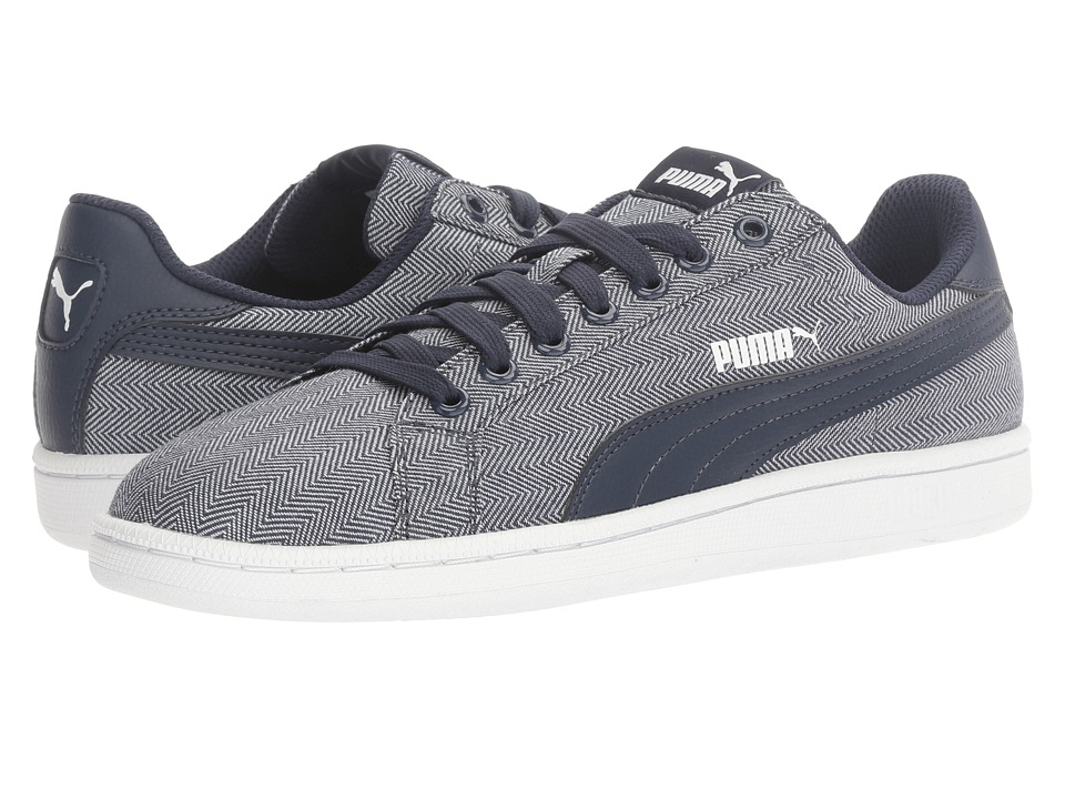 PUMA - Smash Herringbone (Peacoat/Peacoat) Men's Shoes