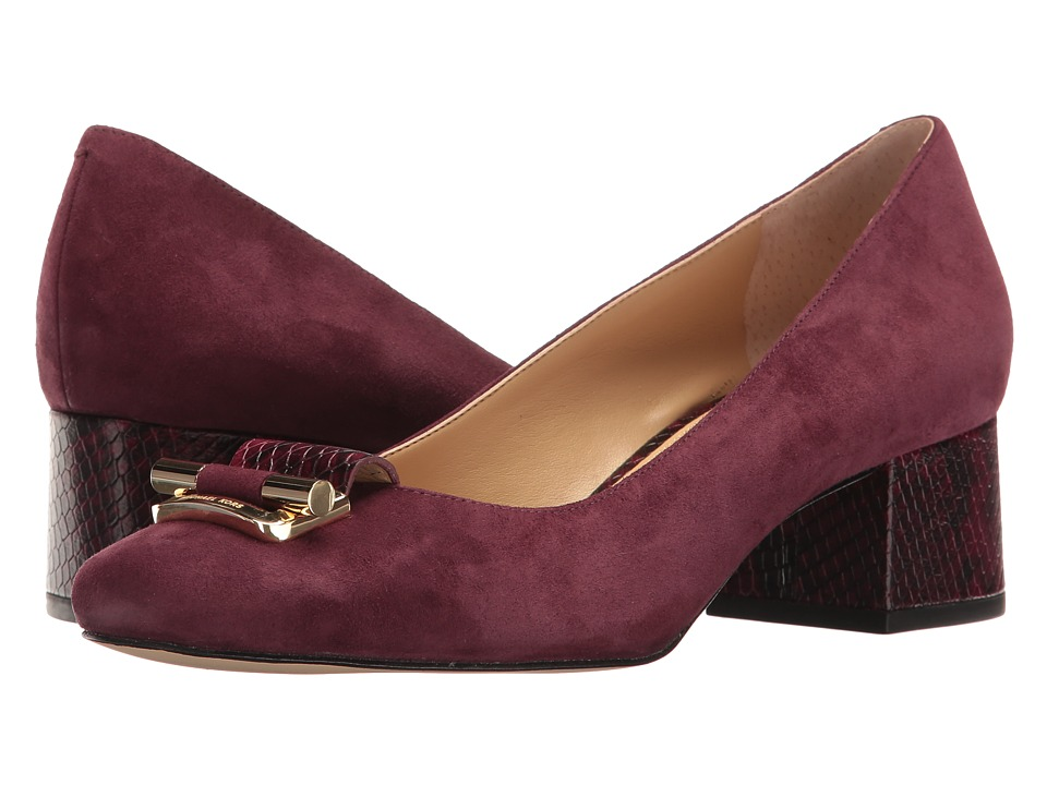 MICHAEL Michael Kors - Gloria Mid Pump (Plum) Women's Shoes