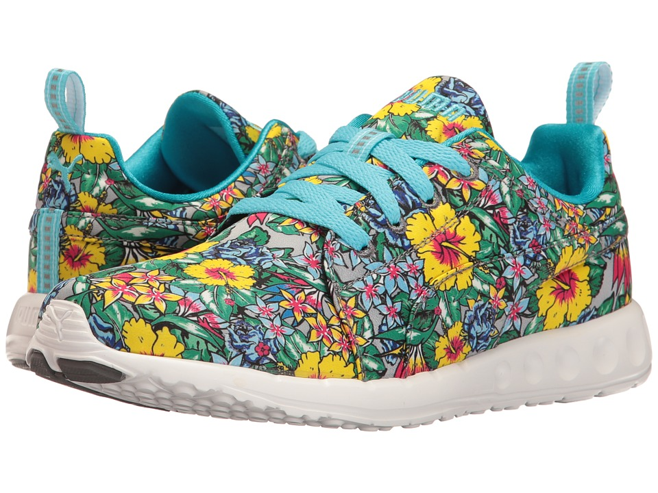 PUMA - Carson Runner Hibiscus Floral (Blue Atoll/White) Women's Shoes