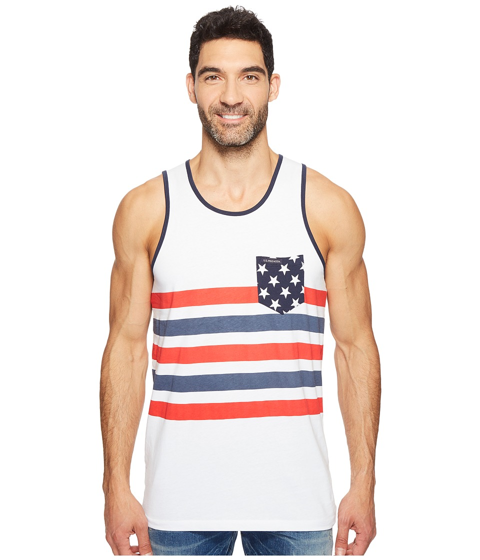 U.S. POLO ASSN. - Tank Top (Classic Navy/Chilli Pepper) Men's Sleeveless