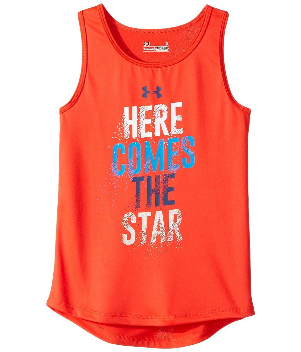 Under Armour Kids - Here Comes The Star Tank Top (Little Kids) (Rocket Red) Girl's Sleeveless