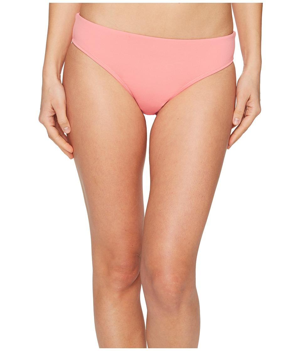 Letarte - Solid Full Coverage Bikini Bottom (Pink Coral) Women's Swimwear