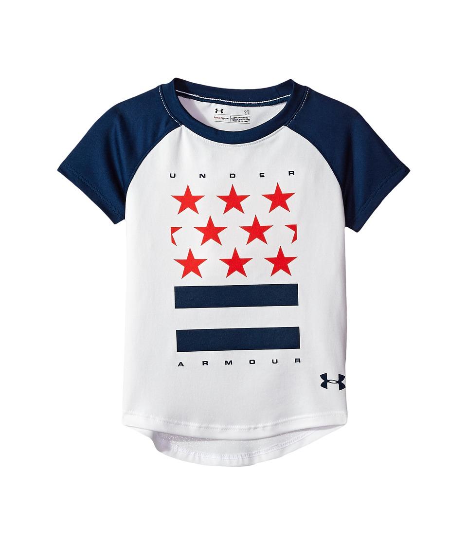 Under Armour Kids - Stars and Stripes Short Sleeve (Little Kids) (White) Girl's Clothing