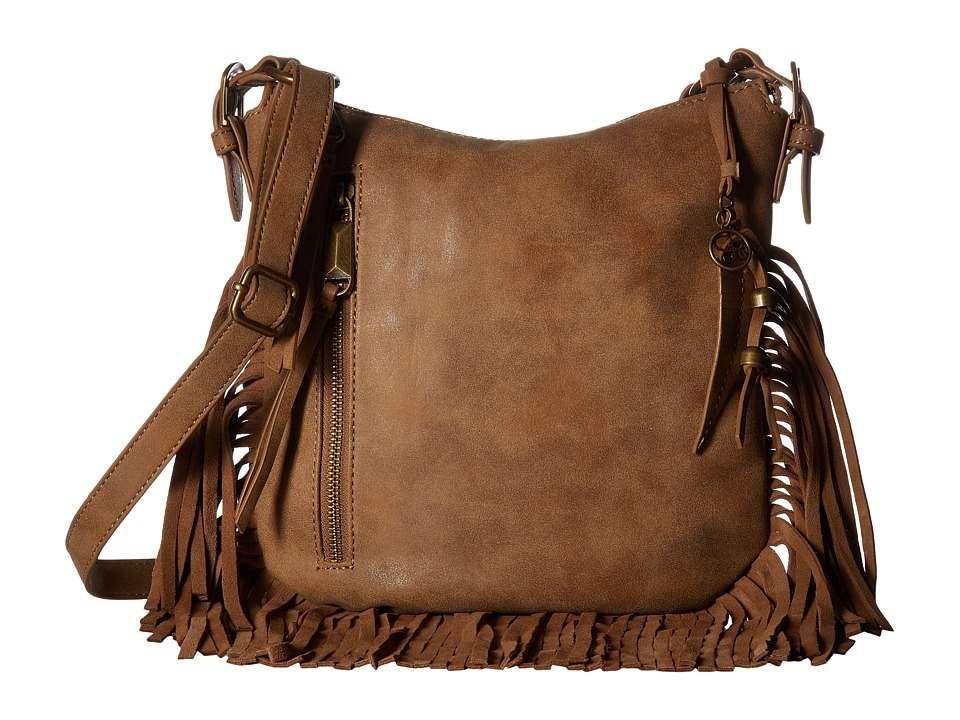 Jessica Simpson - Delilah Top Zip Crossbody (Acorn) Cross Body Handbags