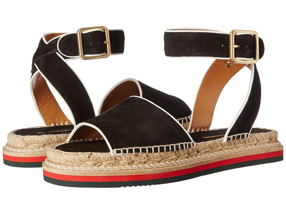 Andre Assous - Estrella (Black/White Suede) Women's Sandals