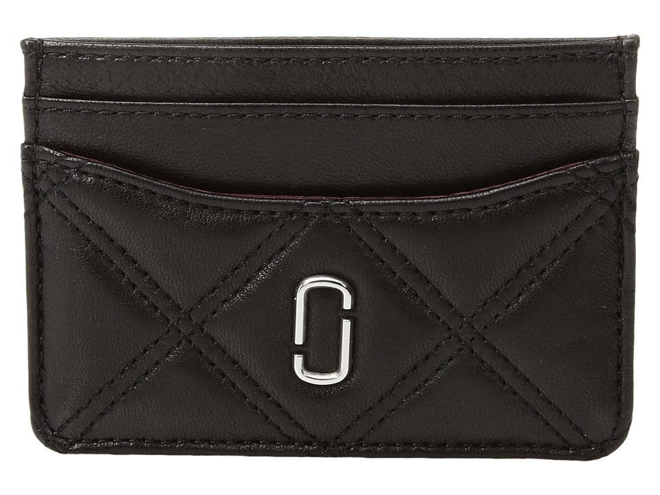 Marc Jacobs - Double J Matelasse Card Case (Black) Handbags