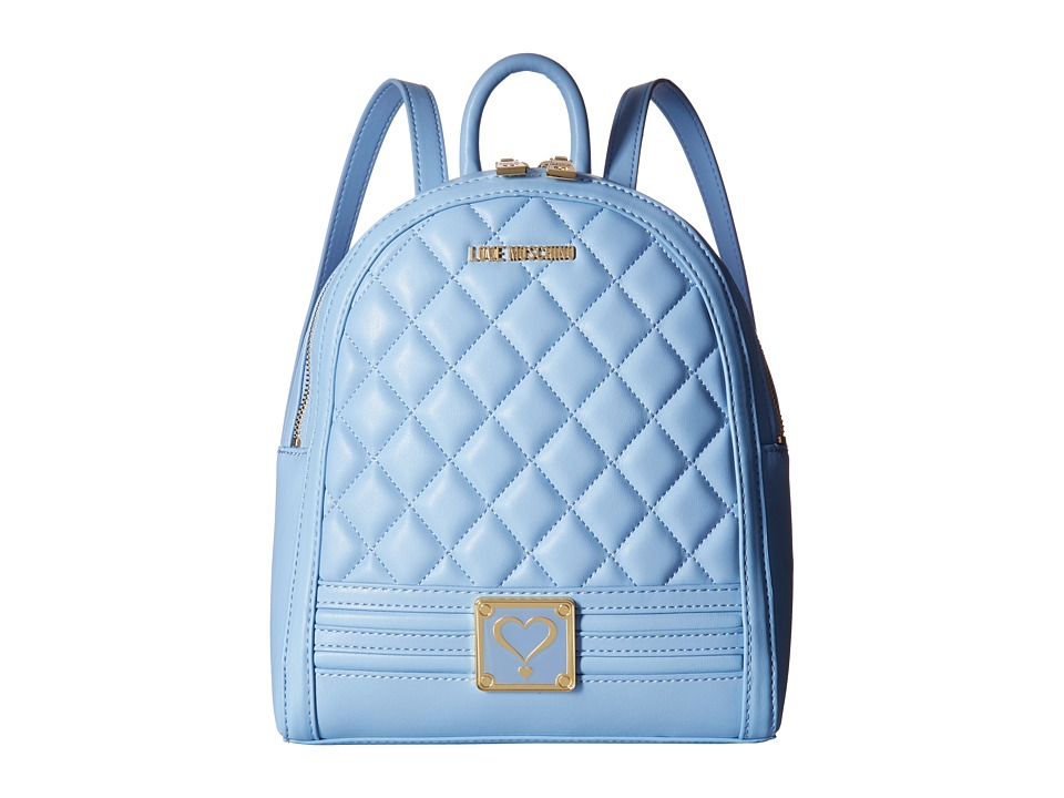 LOVE Moschino - Quilted Mini Backpack (Blue) Backpack Bags