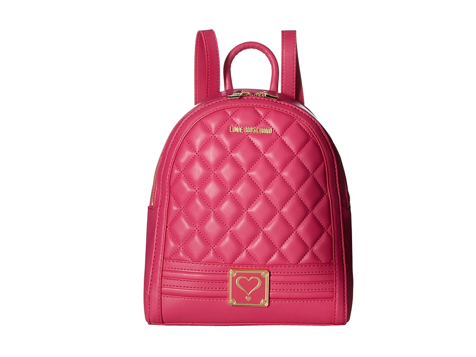 LOVE Moschino - Quilted Mini Backpack (Fuchsia) Backpack Bags