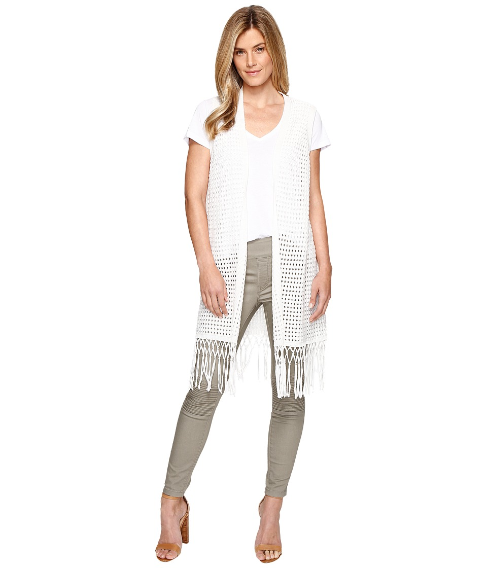 Tribal - Cotton Sweater Vest w/ Fringe (Cream) Women's Vest