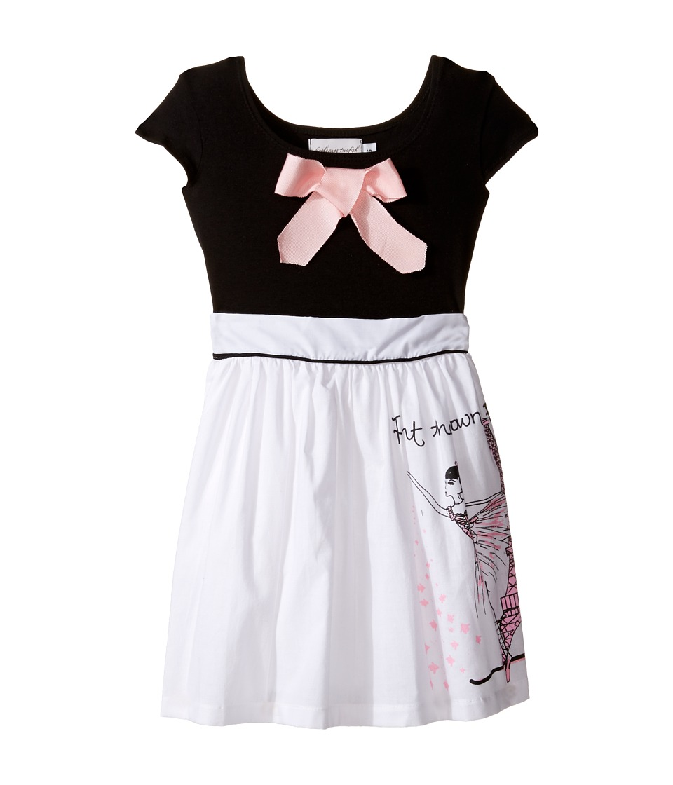 fiveloaves twofish - Paint The Town Pink Maddy Dress (Toddler/Little Kids/Big Kids) (Black) Girl's Dress
