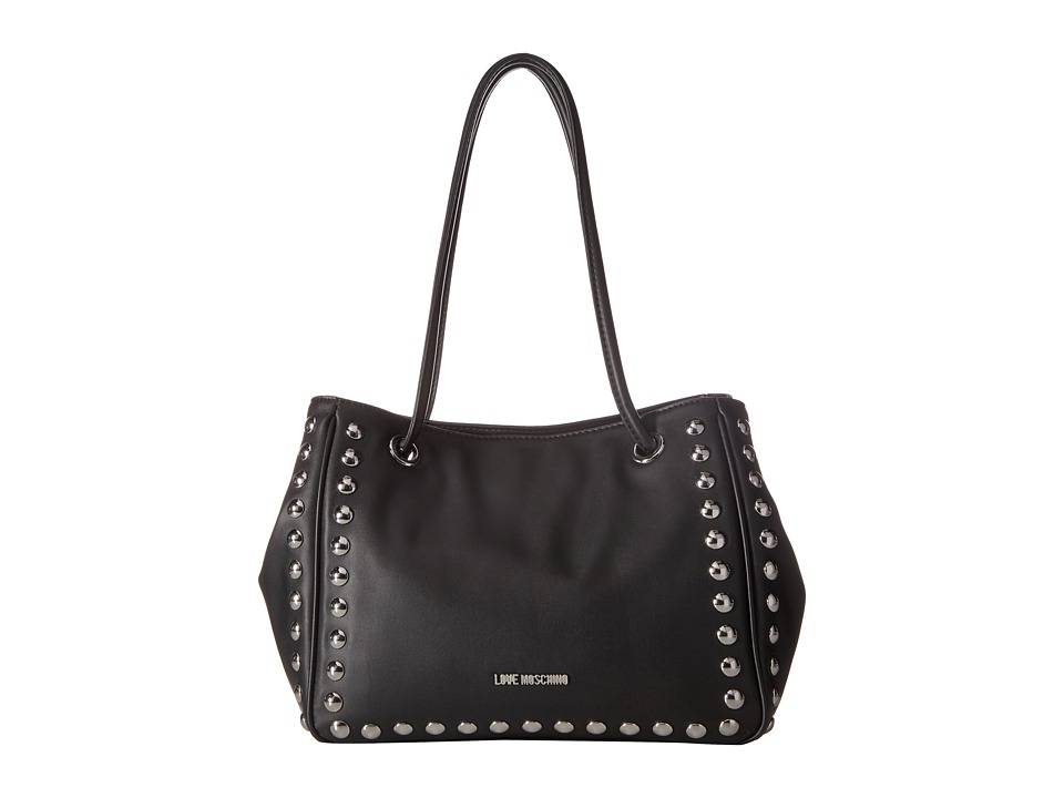 LOVE Moschino - Studded Small Tote (Black) Tote Handbags