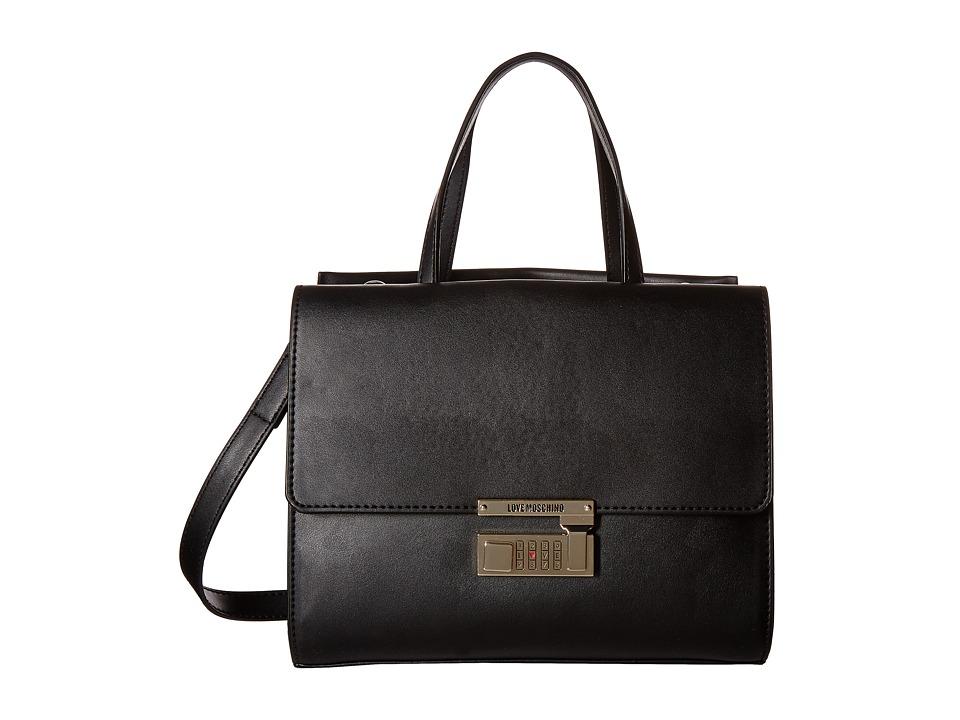 LOVE Moschino - Luggage Lock Hand Bag (Black) Handbags