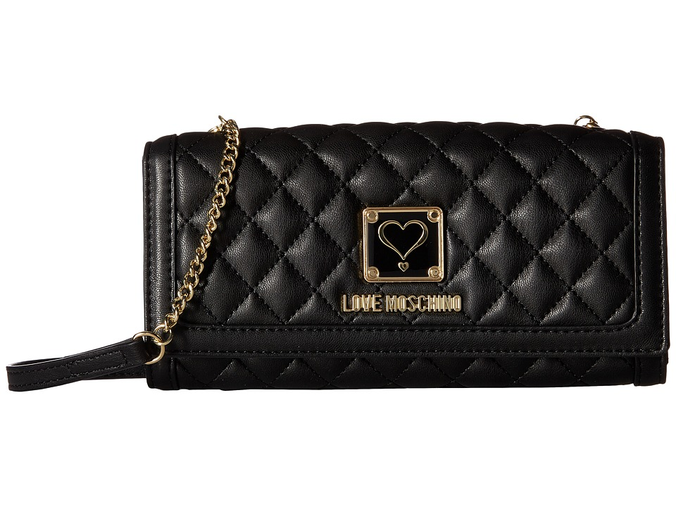 LOVE Moschino - Quilted Wallet Bag (Black) Wallet Handbags