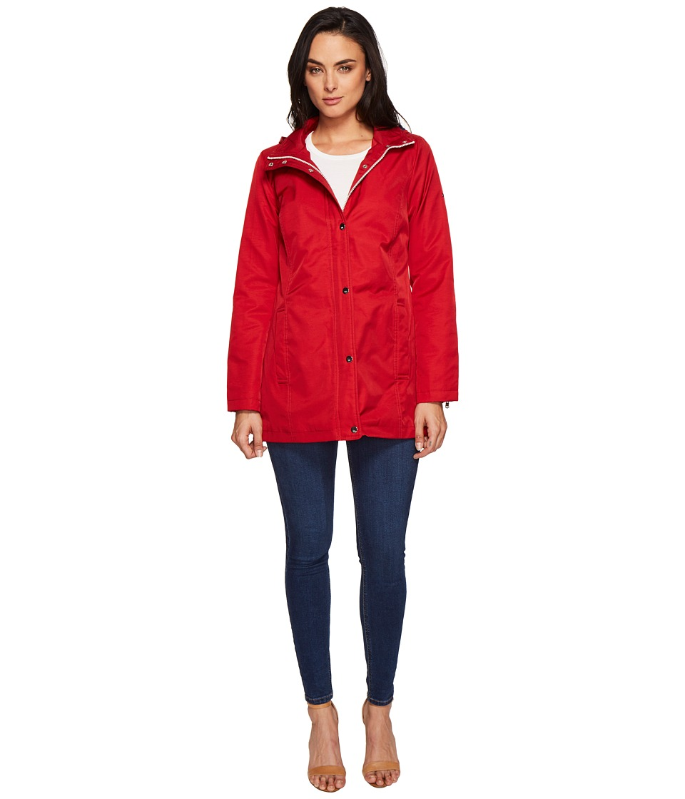 Tommy Hilfiger - Snap Closure Zip Jacket (Salsa) Women's Coat