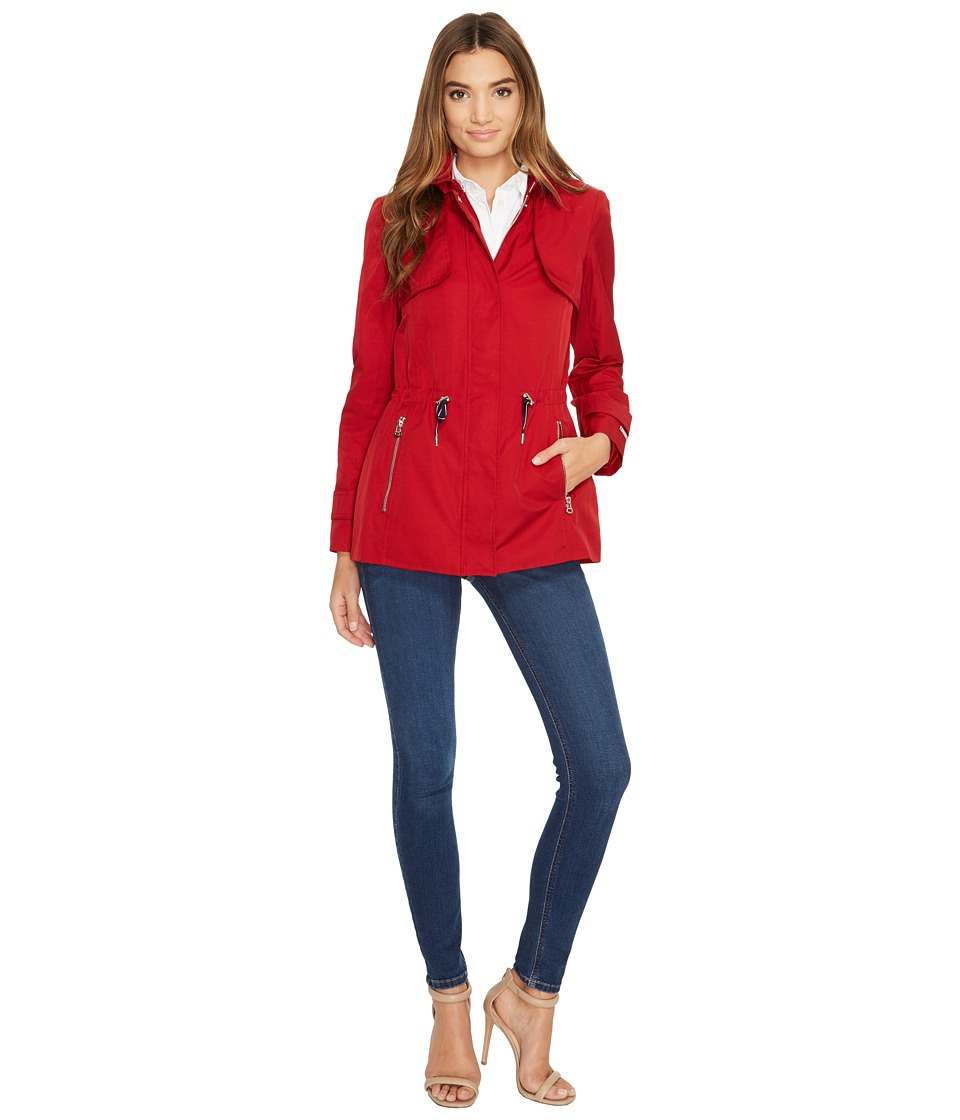 Tommy Hilfiger - Zip Front Jacket (Red) Women's Coat