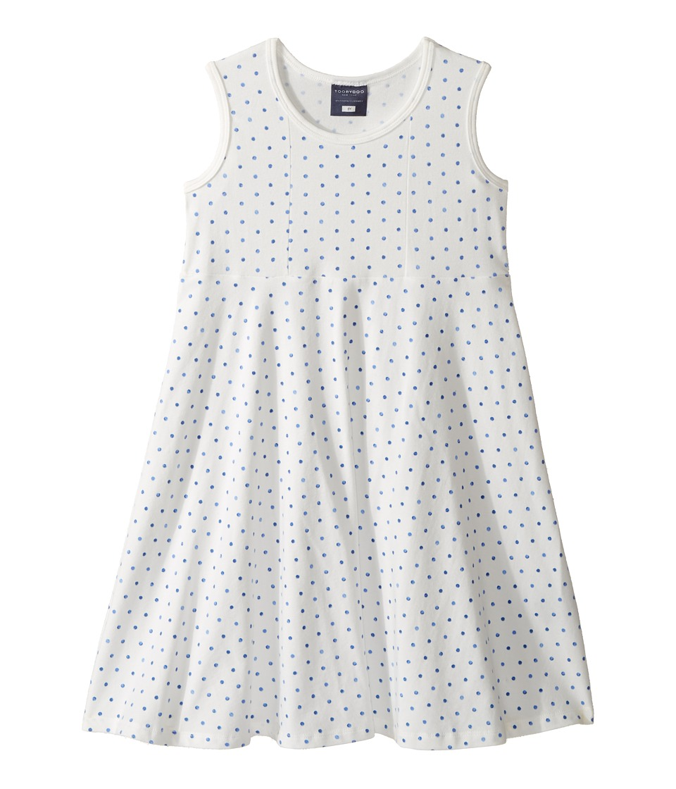 Toobydoo - Blue Dot Tank Skater Dress (Toddler/Little Kids/Big Kids) (Blue/White) Girl's Dress