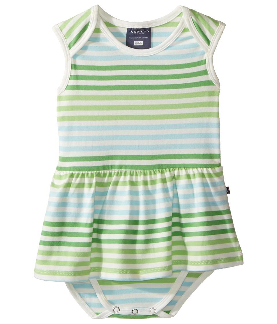 Toobydoo - Multi Stripe Ballerina Dress (Infant) (Green/Blue/White) Girl's Dress