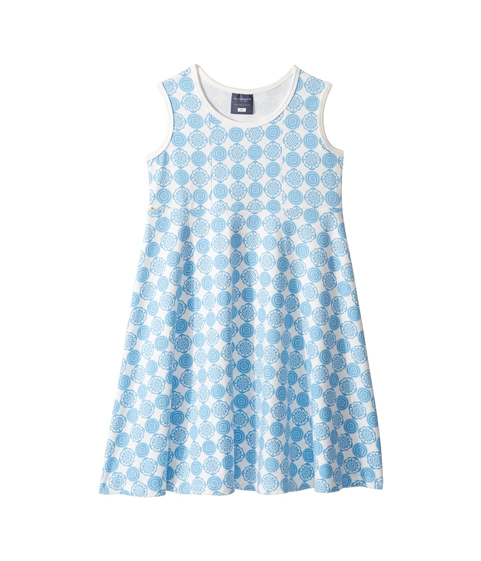 Toobydoo - Tank Top Skater Dress (Toddler/Little Kids/Big Kids) (Blue/White) Girl's Dress