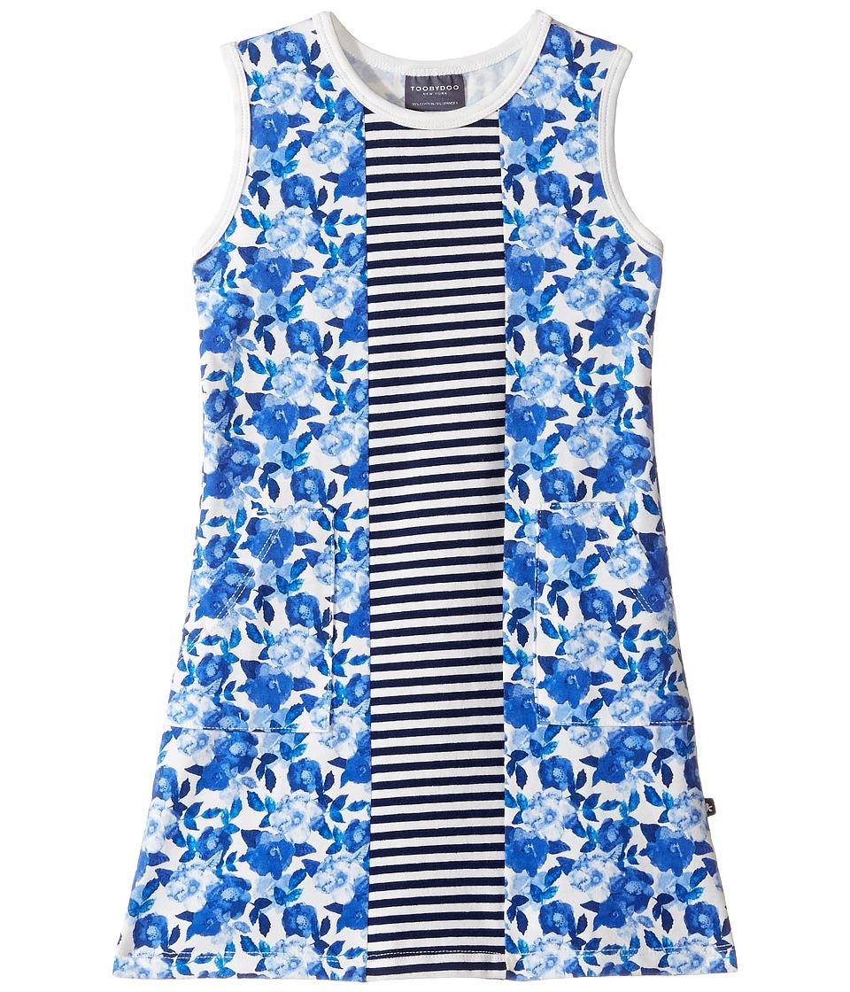 Toobydoo - Alexia Tank Dress (Toddler/Little Kids/Big Kids) (Navy Floral/White) Girl's Dress