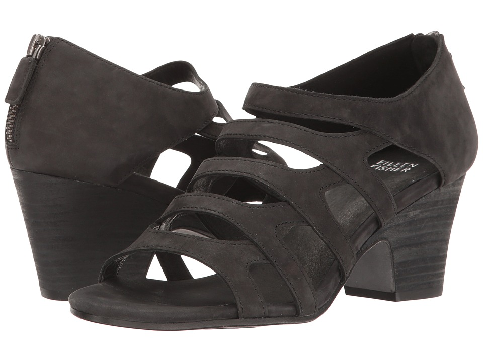Eileen Fisher - Dawson (Black Nubuck) Women's 1-2 inch heel Shoes