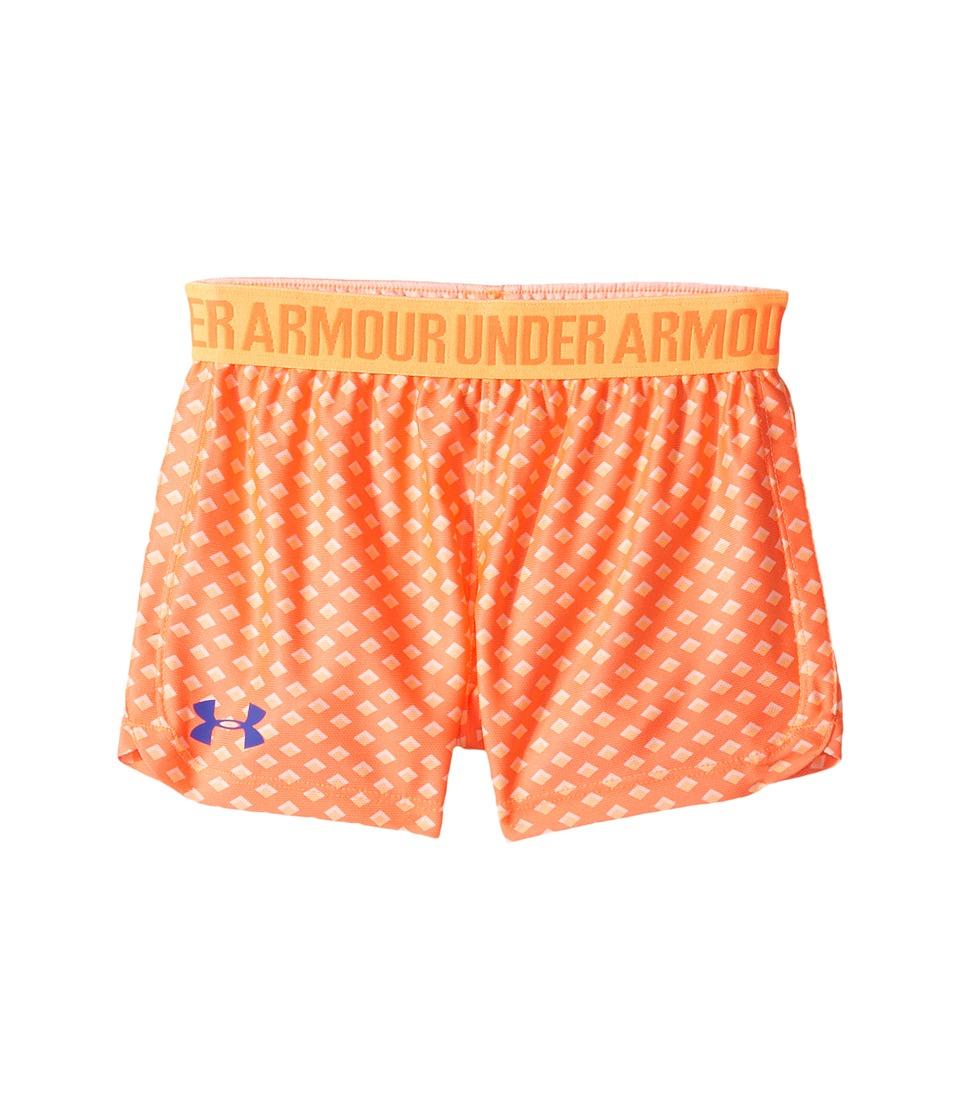 Under Armour Kids - Influx Play Up Shorts (Little Kids) (London Orange) Girl's Capri