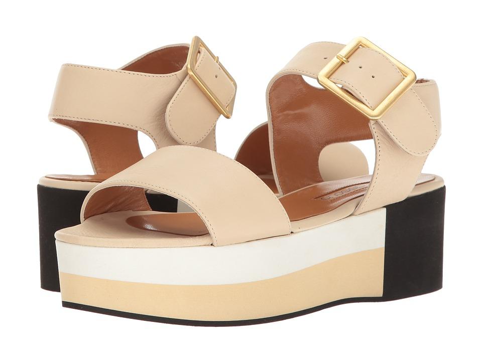 Andre Assous - Paz (Cream Nappa Leather/Multi EVA) Women's Sandals