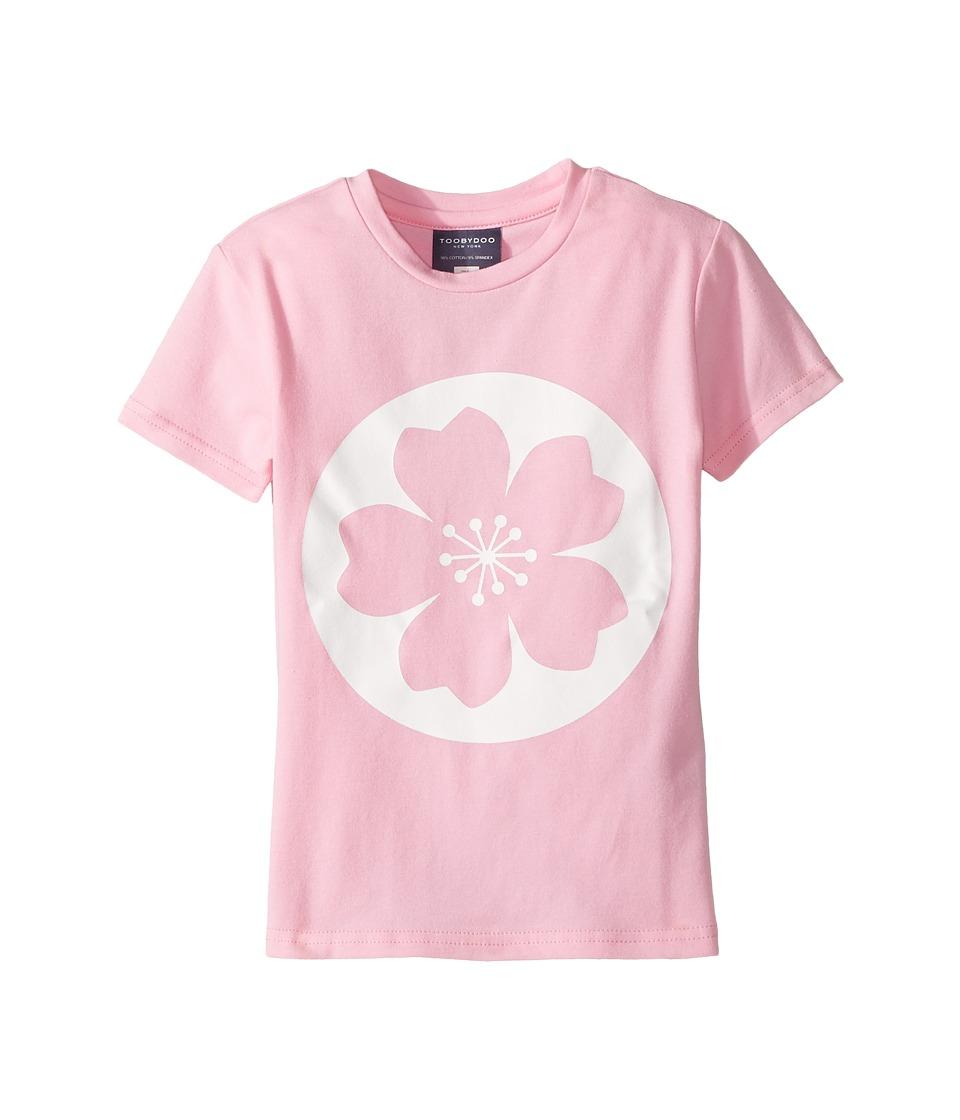 Toobydoo - Short Sleeve Tee (Toddler/Little Kids/Big Kids) (Pink/White) Girl's T Shirt