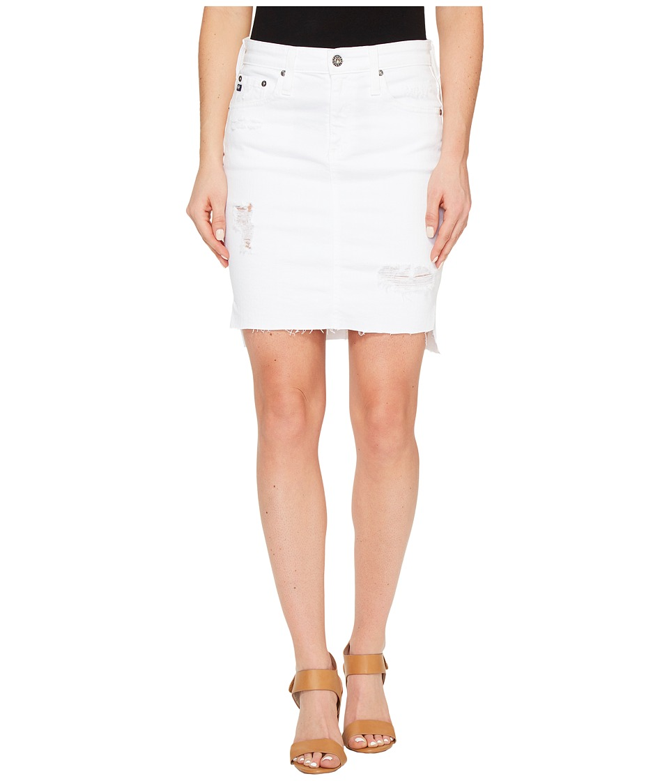 AG Adriano Goldschmied - Erin Skirt in White Intuition (White Intuition) Women's Skirt