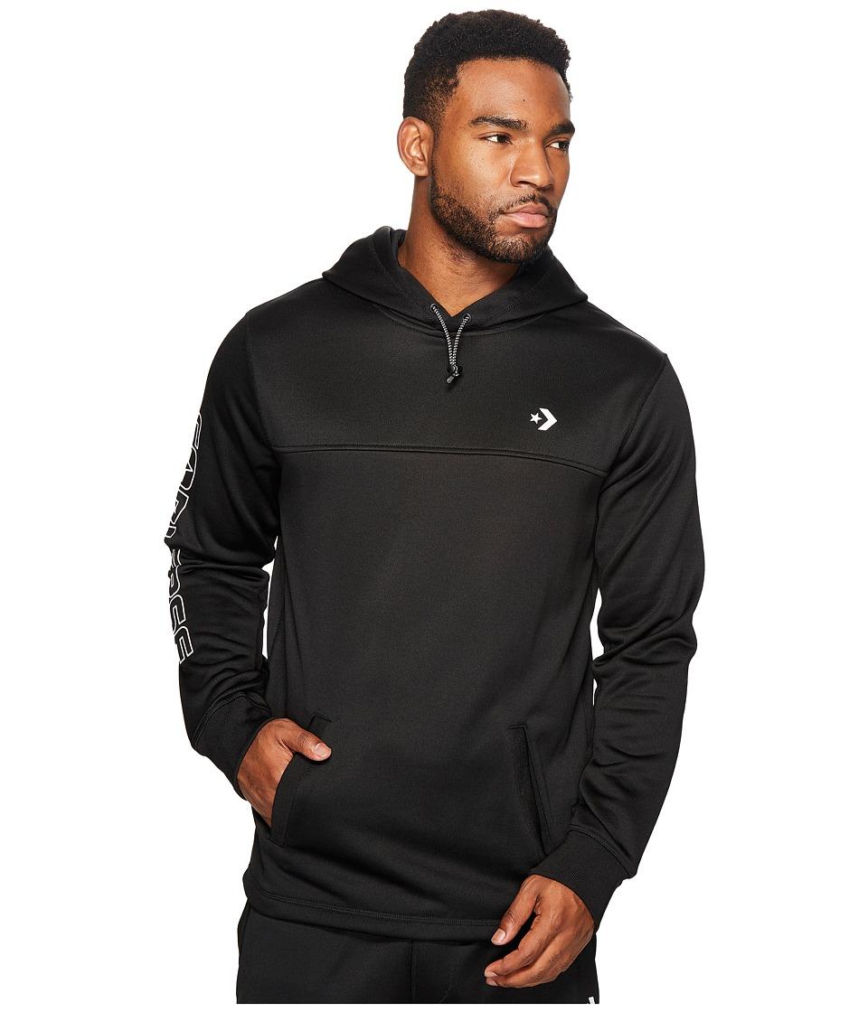 Converse - Hybrid Popover Hoodie (Black) Men's Sweatshirt