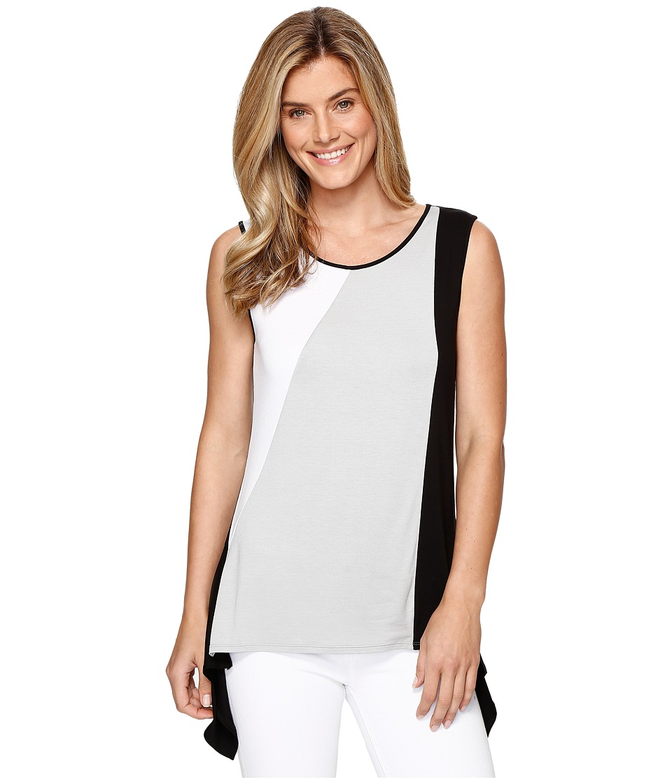 Tribal - Jersey Color Block Sleeveless Top (Cement) Women's Sleeveless