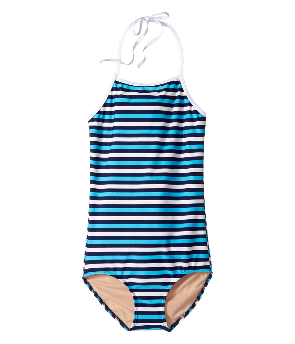 Toobydoo - Multi Blue Stripe One-Piece (Infant/Toddler/Little Kids/Big Kids) (Navy/Aqua/White) Girl's Swimsuits One Piece