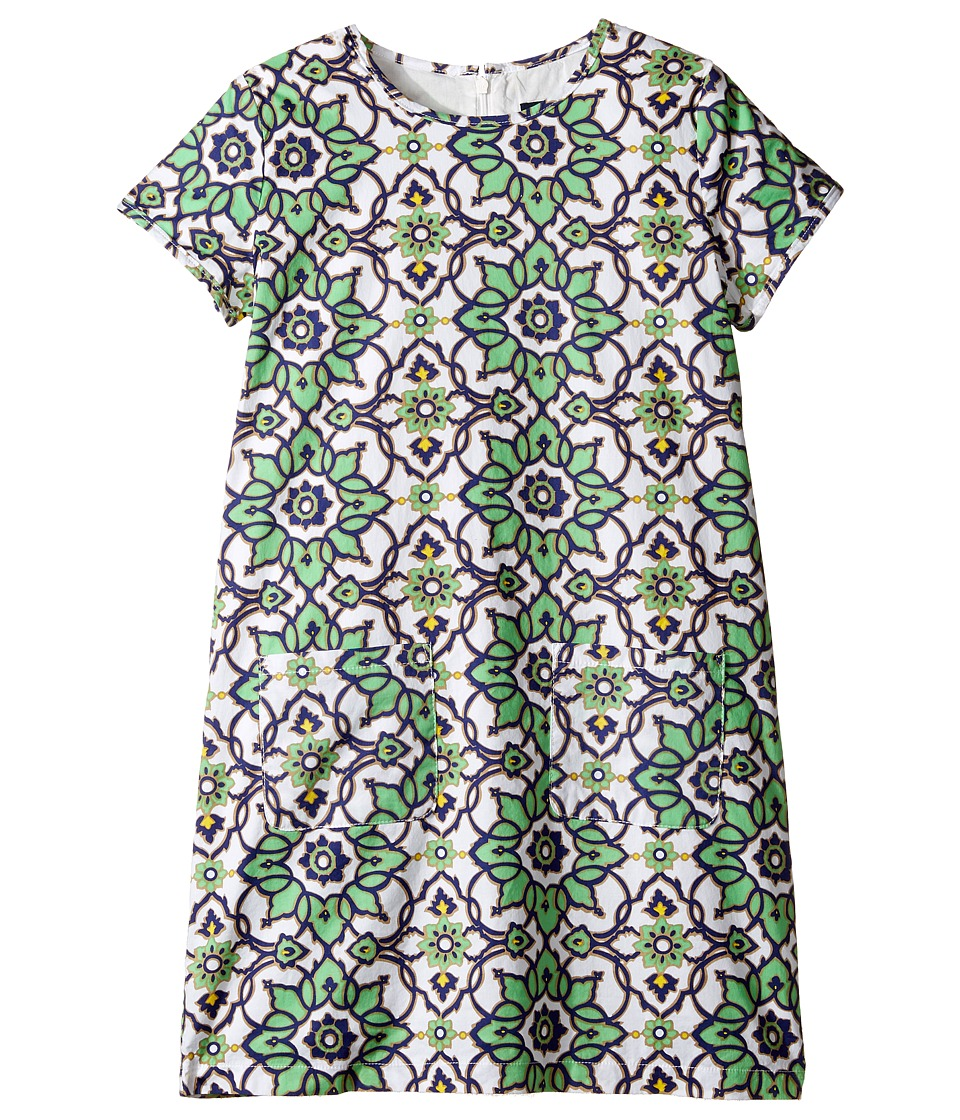 Toobydoo - Green Floral Shift Dress (Toddler/Little Kids/Big Kids) (Green Floral) Girl's Dress
