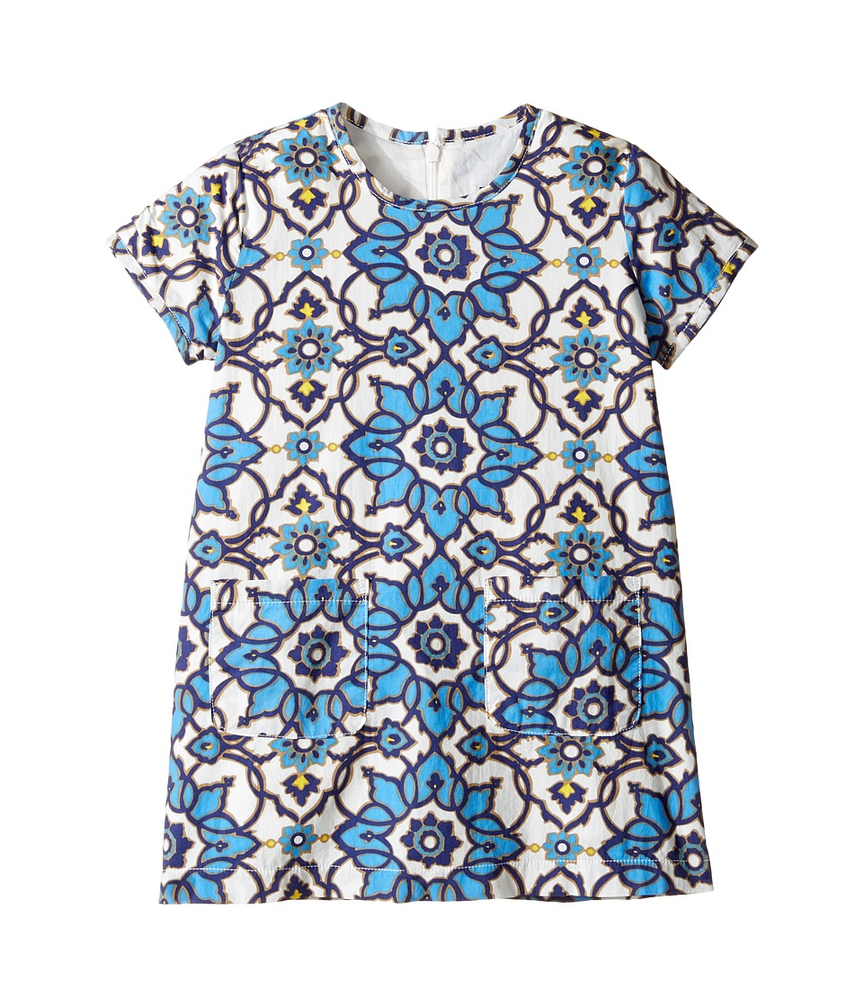 Toobydoo - Blue Floral Shift Dress (Toddler/Little Kids/Big Kids) (Blue Floral) Girl's Dress