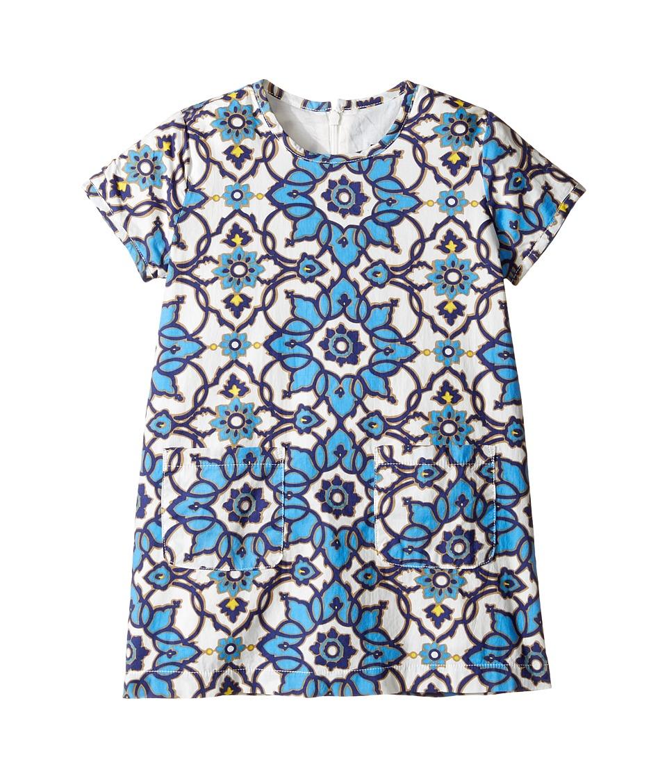 Toobydoo - Blue Floral Shift Dress (Toddler/Little Kids/Big Kids) (Blue Floral) Girl's Dress