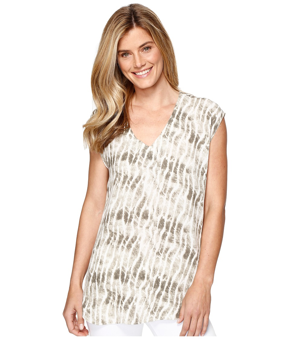 Tribal Printed Cap Sleeve Blouse (Oak Moss) Women