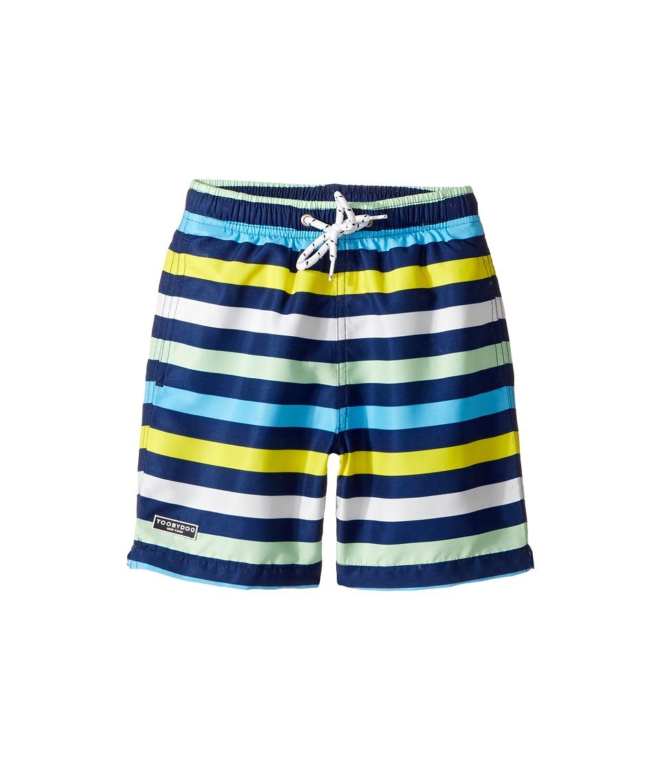 Toobydoo - Multi Stripe Swim Shorts (Infant/Toddler/Little Kids/Big Kids) (Navy/Blue/Green/White/Yellow) Boy's Swimwear