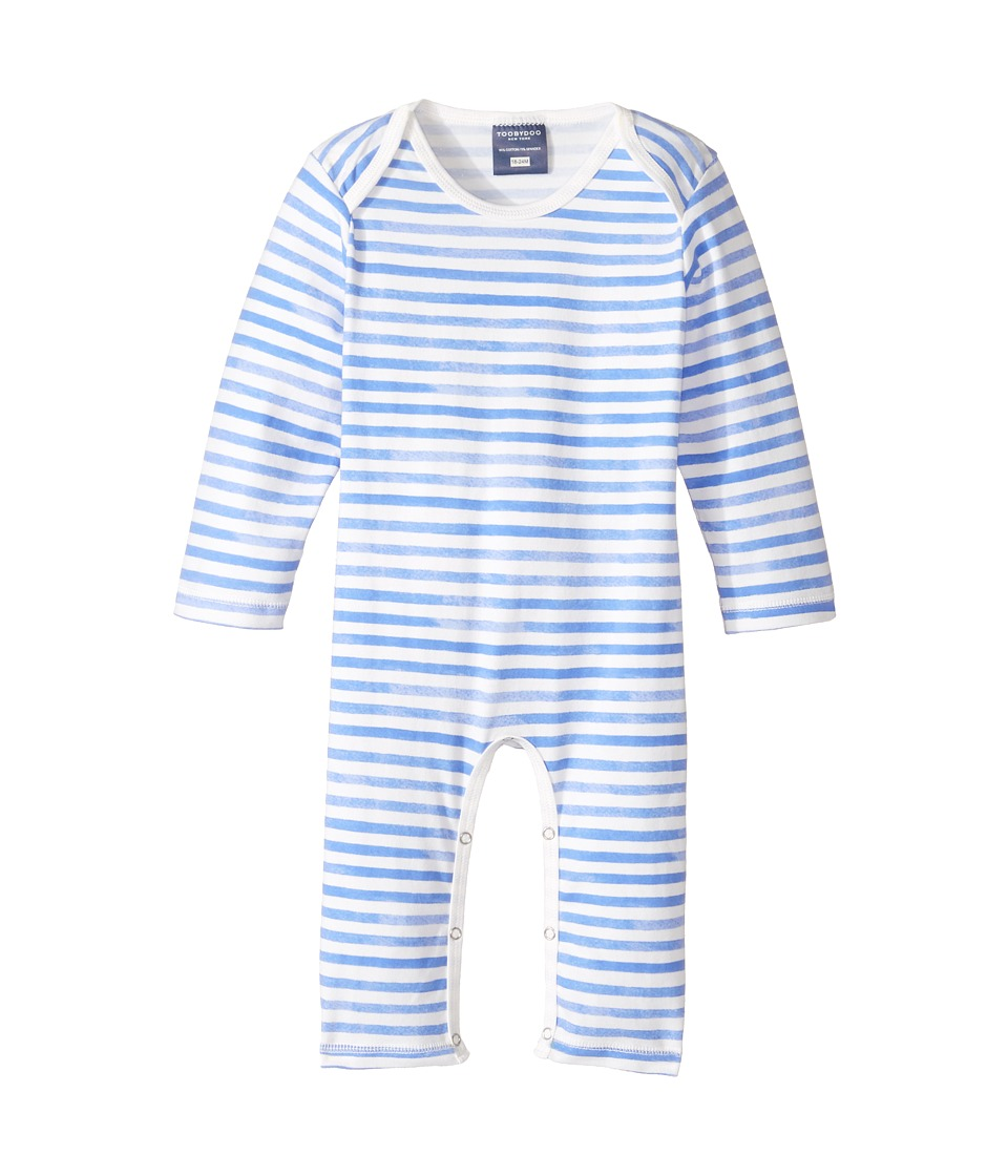 Toobydoo - Watercolor Blue Slim Leg Jumpsuit (Infant) (Blue/White) Boy's Jumpsuit & Rompers One Piece
